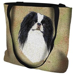 Japanese Chin Tapestry Tote Bag