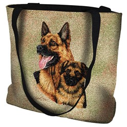 German Shepherd with Puppy Tote Bag
