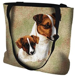 Jack Russell and Pup Tote Bag