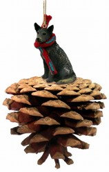 Pine Cone Australian Cattle Dog Dog Christmas Ornament