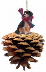 Pine Cone Bernese Mountain Dog Dog Christmas Ornament