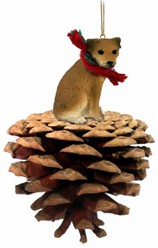 Pine Cone Border Terrier Dog Christmas Ornament