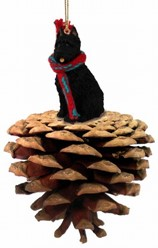 Pine Cone Bouvier Dog Christmas Ornaments