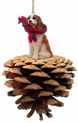 Pine Cone Cavalier King Charles Dog Christmas Ornament