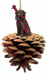 Pine Cone Chesapeake Bay Retriever Dog Christmas Ornament