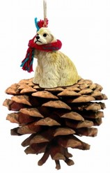 Pine Cone Cocker Spaniel Dog Christmas Ornament