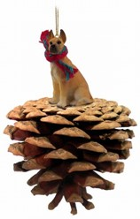 Pine Cone Great Dane Dog Christmas Ornament