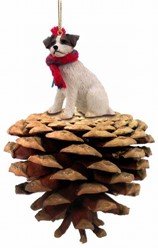Pine Cone Jack Russell Dog Christmas Ornament