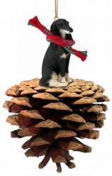 Pine Cone Saluki Dog Christmas Ornament