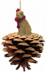 Pine Cone Soft Coated Wheaten Terrier Dog Christmas