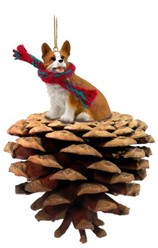 Pine Cone Welsh Corgi Pembroke Dog Christmas Ornament