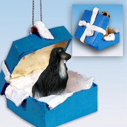 Afghan Hound Gift Box Holiday Ornament