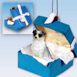 Australian Shepherd Gift Box Holiday Ornament- click for more breed colors