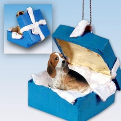 Basset Hound Gift Box Holiday Ornament
