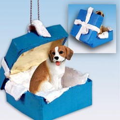Beagle Gift Box Holiday Ornament