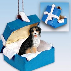 Bernese Mountain Dog Gift Box Holiday Ornament