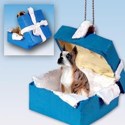 Boxer Gift Box Holiday Ornament