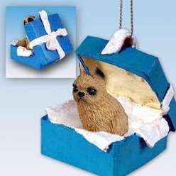 Brussels Griffon Gift Box Holiday Ornament