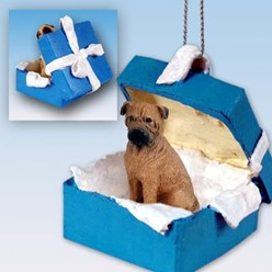 Bullmastiff Gift Box Holiday Ornament