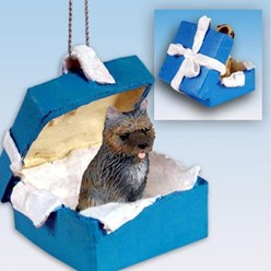 Cairn Terrier Gift Box Holiday Ornament