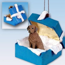 Chesapeake Bay Retriever Gift Box Holiday Ornament