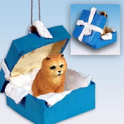 Chow Gift Box Holiday Ornament