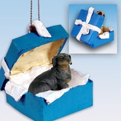 Dachshund Gift Box Holiday Ornament
