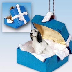 English Setter Gift Box Holiday Ornament