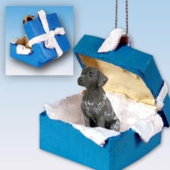 German Shorthaired Pointer Gift Box Holiday Ornament