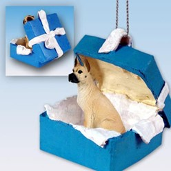 Great Dane Gift Box Holiday Ornament