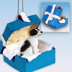 Jack Russell Gift Box Holiday Ornament