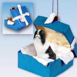 Japanese Chin Gift Box Holiday Ornament