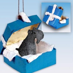 Kerry Blue Terrier Gift Box Holiday Ornament