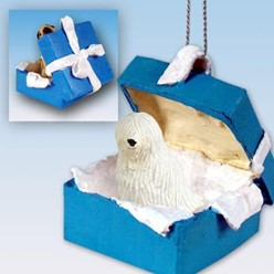 Komondor Gift Box Holiday Ornament