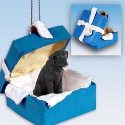 Labrador Retriever Gift Box Holiday Ornament