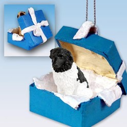 Landseer Gift Box Holiday Ornament