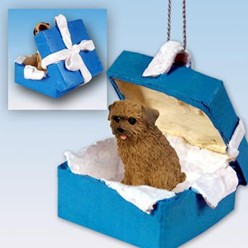 Norfolk Terrier Gift Box Holiday Ornament