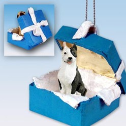 Pit Bull Gift Box Holiday Ornament