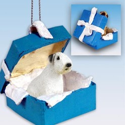 Sealyham Terrier Gift Box Holiday Ornament