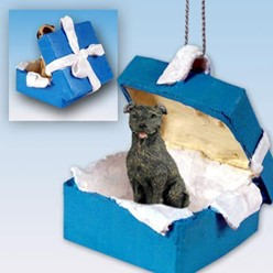 Staffordshire Bull Terrier Gift Box Holiday Ornament