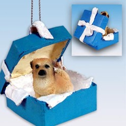Tibetan Spaniel Gift Box Holiday Ornament