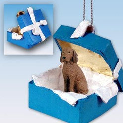 Vizsla Gift Box Holiday Ornament