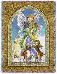 Guardian Angel of Dogs Throw, Made in the USA