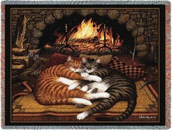 All Burned Out Cat Throw