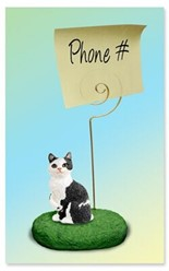 Manx Cat Memo Holder - click for more breed colors