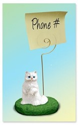 Persian Cat Memo Holder - click for breed colors