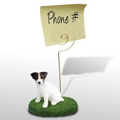 Jack Russell Terrier Memo Holder - click for more breed colors