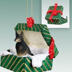 Belgian Tervuren Green Gift Box Christmas Ornament