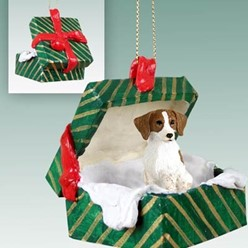 Brittany Green Gift Box Christmas Ornament