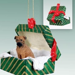 Bullmastiff Green Gift Box Christmas Ornament